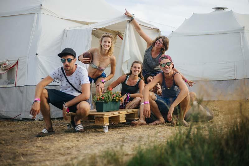 DOMO CAMPS auf Festivals